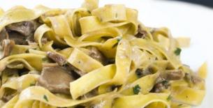 ricetta Tagliatelle al fungo porcino con zucca gialla e verde